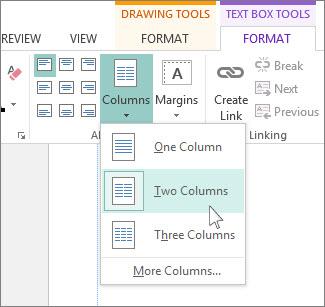 Crear una publicación de dos columnas