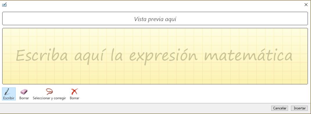 Se muestra el panel Entrada de lápiz de ecuación en PowerPoint