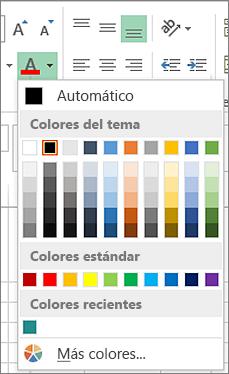 Selector de color de fuente