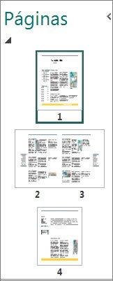 Panel Navegación de páginas con vistas de una y dos páginas