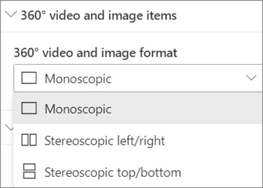 360 de vídeo y formato de imagen de 360