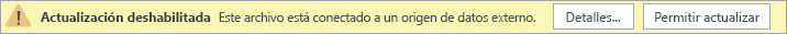 Mensaje de alerta de actualización deshabilitada en vista previa de Visio Online.