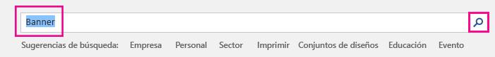 """Busque """"Banner"""" en la página inicial de plantillas."""