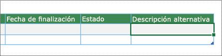 Captura de pantalla de creación del diagrama del Visualizador de datos de Excel