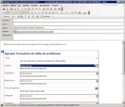 Recopilar información con InfoPath