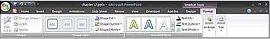 Figura 12.3 Imagen de la ficha Formato de herramientas de SmartArt