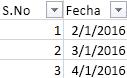 Lista desplegable Filtro