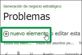 Nuevo elemento