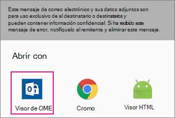 Visor de OME con Gmail en Android 2