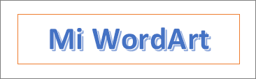 Ejemplo de WordArt