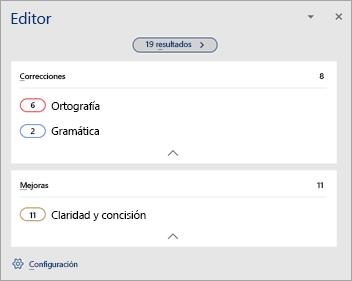 Se muestra Información general sobre los errores de revisión