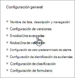Haga clic en configuración avanzada de la ventana Configuración