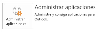 Administrar aplicaciones para Outlook
