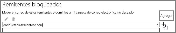 Bloqueo de un remitente en OutlookWebApp