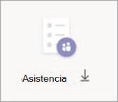 Botón Descargar asistencia