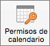 Botón Permisos del calendario de Outlook 2016 para Mac