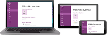 OneNote töötab paljudes erinevates seadmetes