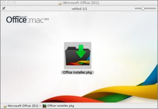 Klõpsake väärtust Office Installer