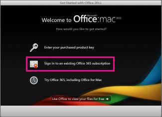 Office for Maci kodus installimise leht