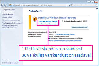Windows Update'i paani lingid