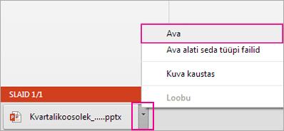 Arvutisse salvestatud faili avamine