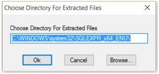 Choose Directory for Extracted Files