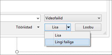 Pilt PowerPointi dialoogiboksist Video lisamine