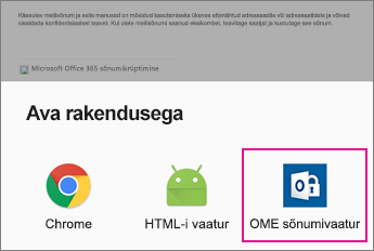 OME Sõnumivaatur koos Androidi meilirakendus 2