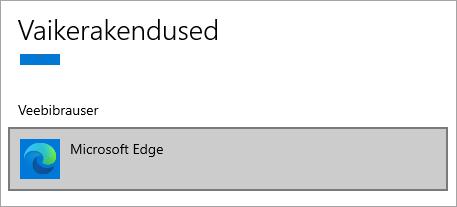 Microsoft Edge ' i vaikebrauser