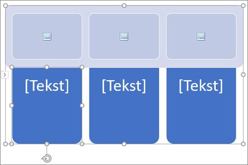 SmartArt-pildi koos kohatäitepiltidega