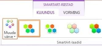 Klõpsake SmartArt-laadid nuppu Muuda värve