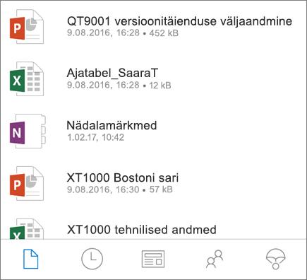 OneDrive'i mobiilirakendus