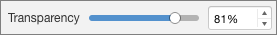 PowerPoint for Mac Transperancy Slider