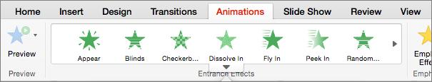 Vahekaart animatsioonid