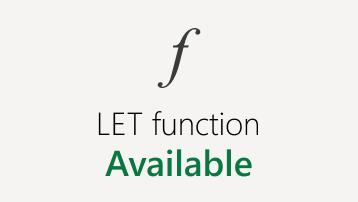 Ajaveebipostituse ikoon Exceli veebirakendus funktsiooni LET kohta