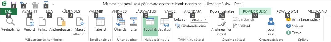 Data Exploreri menüülindi klahvispikrid 2