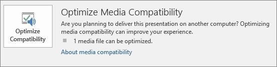 PowerPointi nupp Optimeeri ühilduvus