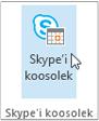Skype'i koosoleku nupp