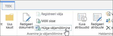 SPO dokumendi väljaregistreerimise nupp