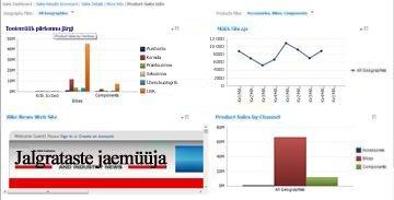 Kahe rakendatud filtriga PerformancePointi armatuurlaud