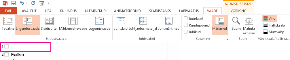 1. slaidil puudub pealkiri.