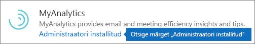 Administraatori installitav lisandmoodul Outlooki poes.