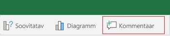 Kommentaari lisamine rakenduses Excel for Android