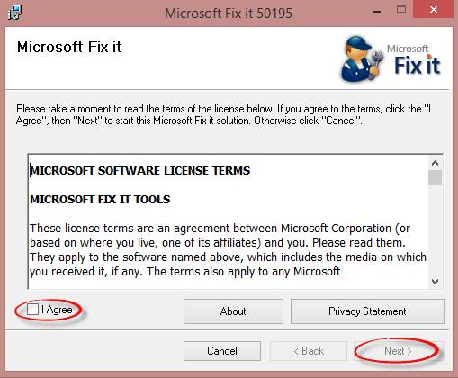 Microsoft Fix it lepingu kasti