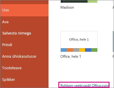 Rohkem veebisaidil Office.com