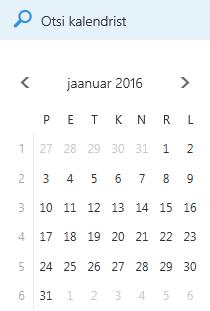 Kalendri otsinguväli