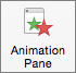 Show or hide the animation pane with the Animation Pane button on the ribbon