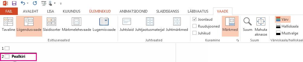 2. slaidil on pealkiri.
