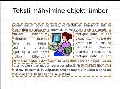 Slaid, millel on objekt ja tekstiväljad sisestatud tekstiga
