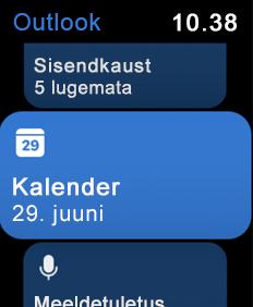 Kuvab Apple ' i käekella ekraani
